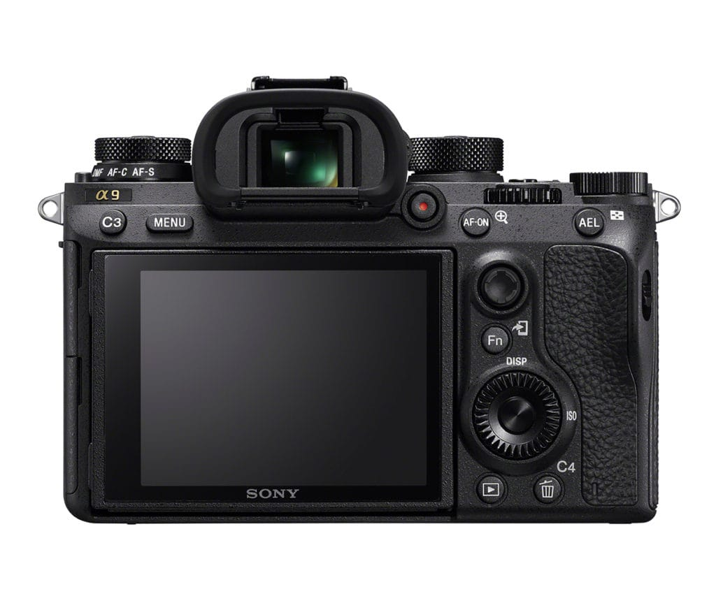 sony alpha 9 back